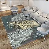Kunsen Klassische kreative Federn geometrische Teppiche-180x230 cm. Langlebiger schmutzabweisender waschbarer leicht zu reinigender Rutschfester Teppich Kinder Teppich teppiche fã¼rs kinderzimmer