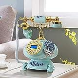 TAIDENG Altmodisches Telefon europäische Stil Dekoration Retro Telefon antike Telefon Vintage kabelliche Telefon Salon Kaffee Dekoration-a 7 × 10 cm Home Schreibtisch Dekor Ornament