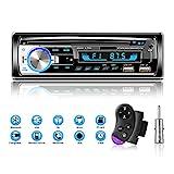 Lifelf Autoradio mit Bluetooth Freisprecheinrichtung, 65W*4 Bluetooth Autoradio 1 Din mit Lenkrad-Fernbedienung, FM/AM/MP3-Player/2*USB/TF/AUX Audio/Antenna Adapter