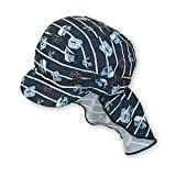 Sterntaler Unisex Schirmmütze mit Nackenschutz und Bindebändern, Alter: 6-9 Monate, Größe: 45, Blau (Marine)