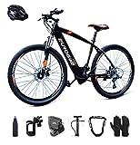 E-Bike klapprad Elektrofahrrad 26' für Erwachsene, Ebikes Fahrräder All Terrain 21 Geschwindigkeit und 36V/ 10AHLithium Batterie (Rot)