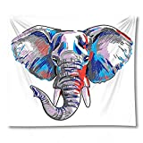 PPOU Elefant Tapisserie Indische böhmische Hippie Tiermatte Haushalt Wandtuch Dekoration Wanddecke A13 180x200