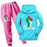 Zheart Free Palästine Hoodie für Kinder, Unisex, Kinder, Cartoon, langärmelig, mit Palästina-Sweatshirt für Jungen und Mädchen