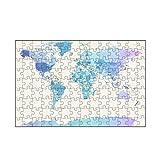 artboxONE-Puzzle S (112 Teile) Reise Watercolour Political Map of The World - Puzzle Weltkarte rosequartz Serenity