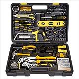 CARTMAN 218-teiliges Werkzeugset - Allgemeiner Haushalt Handwerkzeug Kit mit Kunststoff Werkzeugkasten Aufbewahrungskoffer Gelb