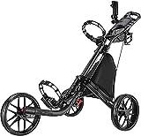 Golf Push Cart Trolley 3 Räder 3 Räder Golf Push Cart – Faltbarer Zusammenklappbarer Leichter Pushcart mit Fußbremse – Einfach zu öffnen und zu schließen