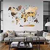 World Map Push Pin 3D Wood World Map Wooden Wall Decor Wood Map Anniversary Gift For Boyfriend Weltkarte Holz Rustic Wall D