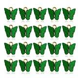 Nikunty Anhänger aus Acryl, bunt, Schmetterlings-Anhänger, Armband, Charms, Schmuckherstellung, 20 Stück