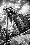 STEINS ART SA-EE02 Essen by day, Zeche Zollverein, künstlerische Fotografie als Wandbild, Panorama (Aluminium (matt), 150x100cm)