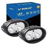 WOWLED Lichtleisten, 2 x 20 W ovale LED-Arbeitsscheinwerfer, superhelles weißes Licht, Nebelscheinwerfer, Indikatoren für Offroad-Fahren, Auto, LKW, 4 x 4, ATV-Motor