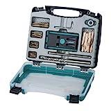 Wolfcraft Undercover Jig-Set 4642000 | Zuverlässige Bohrhilfe mit Schrauben für Holzverbindungen und das Bohren von Taschenlöchern | Im praktischen Kunststoffkoffer