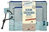 moses. Fernweh Täschchen Bon Voyage 2er Set | 2 Kosmetiktaschen für die Reise | Für Schminkutensilien Kosmetiktäschchen, 22 cm, G