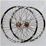 ZPPZYE MTB Radsatz 26 Zoll 27,5' 29ER Fahrradfelge Doppelwandig Legierung Fahrrad-Rad Hybrid/Berg für 7/8/9/10/11 Speed (Farbe : Gold, Size : 29 inch)