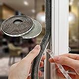 Dichtungsband Selbstklebend, Bürstendichtung Selbstklebende für Türen Fenster 9 mm (B) x9 mm (T) x 5 m (L) Türdichtung Fenster ürdichtung, wetterfest, Anti-Kollision, Schalldämmung