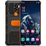Smartphone-Angebot, N1 + 5G-Mobiltelefonangebote, Android 11 Ten-Core 4 GB + 64 GB, 7.0 Zoll 19: 9 HD + Bildschirm, 6800 mAh, Kamera 32 MP + 50 MP, Dual-SIM 5G / GPS/Face ID,Orange