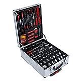 Werkzeugkoffer Werkzeugtrolley 399-teilig Werkzeug-Set Werkzeugkasten Werkzeugkiste Werkzeug Trolley Handwerkzeugset Koffer Mechanik Kit Box mit Rollen und Teleskophandgriff