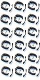 18 Stück Zaunbefestigung Pfostenhalter Ø 34 mm für Befestigung des Gartenzaun Schweißdraht Garten-draht an Pfahl in RAL 7016 grau anthrazit schwarz