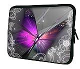Ektor Hülle/Sleeve/Tasche für 25,4-44,7 cm (10-17,6 Zoll) Laptops/Notebooks, in unterschiedlichen Mustern und Größen erhältlich (Teil 2 von 3) Auffälliger Schmetterling 12' (230x300mm)