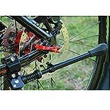 MEIYOUMK Fahrradständer, Dauerhaft Bike Stand gemacht durch Aluminiumlegierung, Seitenständer, Fahrrad Ständer, Aluminiunlegierung für Mountainbike, Rennrad, Fahrräder, Klapprad, für 16-26 Zoll