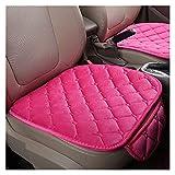 WEIWEIMITE Auto-Vordersitz, Einzelsitz Ohne Rückenlehne, Sommerkomfort Autositz Pad, Universal Fit 90% Fahrzeuge, Größe: 52cmx49cm (Color : Pink, Size : 52cmx49cm)