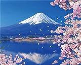 Wowdecor Malen nach Zahlen für Erwachsene, Anfänger und Kinder, Nummernmalerei – Mount Fuji Katze Tiger Blume 40 x 50 cm – Wandkunst Geschenke No Frame Halterung