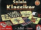 Steinchenwelt Spielesammlung Schmidt Spiele Klassiker Idee+Spiel Limited Edition (Kniffel, Mensch ärgere Dich Nicht, Mikado, Skat)