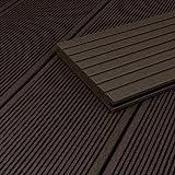 HORI® WPC-Terrassendiele Anthrazit Massivdiele I Komplettset inkl. 45x45 mm Unterkonstruktion & Clips I Fläche: 5 m² I 3,50 m Dielenlänge