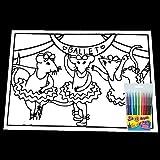 Velvet Art Filz-Mäuse, flauschig, groß, 50 cm x 35 cm, für Kinder, Malspaß (Ballett-Mäuse)
