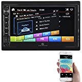 Creasono DIN 2 Radio: 2-DIN-MP3-Autoradio mit Touchdisplay, Bluetooth, Freisprecher, 4X 45 W (Autoradio Doppel DIN)