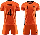 YOYOL Fussball Jersey Training Jersey Fußballuniform, 2020 Niederlande Team Home & Away Kurzarm Shorts Set, Fussball Jersey, Erwachsene Kinderhemd, Fußballuniform Kurzarm Sommer Herrenclub