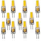 Mbswdd 11 Stück G4 LED Lampen, 6W LED Birnen Ersetzt 60W Halogenlampen, 550Lm 12V AC/DC Nicht Dimmbar LED Leuchtmittel, G4 LED Birne Stiftsockellampe Glühbirnen,Warm White,39 * 10mm