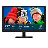 Philips 223V5LHSB - 22 Zoll FHD Monitor (1920x1080, 60 Hz, VGA, HDMI) schwarz