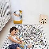 Kleinkind Kid Area Rug Baby Teppich Spielmatte 4ft Kinder Spielmatte Weltkarte Bodenmatte Baby Game Crawl Matte Dünne Steppdecke Kinderzimmer Dekoratio