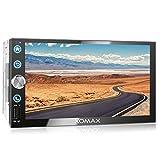 XOMAX XM-2V766 Autoradio mit Mirrorlink, Bluetooth Freisprecheinrichtung, 7 Zoll / 18cm Touchscreen Bildschirm, FM Tuner, SD, USB, 2 DIN