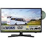 Gelhard GTV-2482 LED 24 Zoll Wide Screen TV DVD DVB/S/S2/T2/C 230/12 Volt 24 Volt für Wohnmobil Camping KFZ LKW Truck und Zuhause