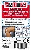 Klammerpflaster Wundnahtstreifen Strips Steril - Nahtmaterial Wundverschluss-Streifen Steril 6 x 100 mm Weiß, 10 Klammerpflaster