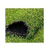 YILANJUN Zuschnitt Kunstrasen   Grünes Gras   2 × 0,5 m   Dauerhafte, Simulation, Pflegeleicht   Für Balkone, Haustiernester usw