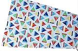 Sonnensegel, Buggy, Kinderwagen, weiß, blau, rot, Segelboote, Nordsee, C-Fashion-Design (creme Wildtiere)