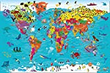 Collins Children's World Map: An Illustrated Poster for Your Wall (Collins Children's Poster, Band 12)