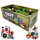 Likör-Obstgarten | witziges Geschenk mit Alkohol | 8x Frucht-Likör für Frauen und Männer | Kirsch, Pflaume u.v.m.