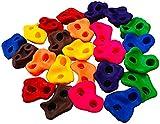 XULIM 【2021 spätestens】 10 Stück Klettergriffe für Kinder, Wall Stones Spielzeug Griff Kletterfelsen-Set ohne Schrauben für den Innen【Mit Schraube】