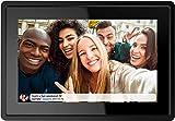 QCHEA WiFi Digitaler Bilderrahmen 8 Zoll, 16 GB Speicher, Easy Set bis zu Fotos & Videos von überall, Smart-Cloud-Digital Photo Frame, Hintergrundmusik Unterstützung