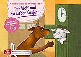 Der Wolf und die sieben Geißlein. Kamishibai Bildkartenset.: Märchen für Kinder von 1–3. Mit dem Erzähltheater Grimms Märchen entdecken. ... Erzähltheater mit Kindern unter drei Jahren)