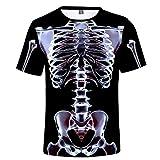 Kipeee T-Shirts Lustiges Bedrucktes Männer-T-Shirt Lässiges Kurzarm-O-Ausschnitt-Mode-3D-T-Shirt Männer Frau Top-T-Shirt,17,Xs