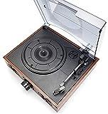 Angelay-Tian Vinyl-Plattenspieler, Vintage-Plattenspieler , DREI-Gang-Plattenspieler-Retro-Plattenspieler mit eingebauten Stereolautsprechern