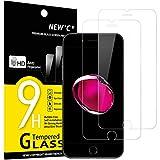 NEW'C 2 Stück, Schutzfolie Panzerglas für iPhone 7 und iPhone 8, Frei von Kratzern, 9H Härte, HD Displayschutzfolie, 0.33mm Ultra-klar, Ultrabeständig