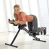 VITALmaxx Heimtrainer 'Fitmaxx 5' klappbar | Rückentrainer, Bauchtrainer, Armtrainer und Beintrainer in einem | Einfach und platzsparend zu verstauen [schwarz]