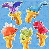 5 Stück Wasserpistole Kinder, Mini Wasserpistole Dinosaurier Wasserpistole mit großer reichweite, Wasserpistole Klein Spritzpistole Wasser, Wasserspielzeug für Jungen Mädchen Strand Sommer Partys
