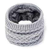 LLTT Strickschal Halstücher Winter-Damen Herren Dicke Fleece-Innen Wolle Kragen Ring Schal Elastic Strickschal Snood (Color : Color 3, Size : One Size)