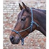 Knotenhalfter, dunkelblau/taupe, Pony